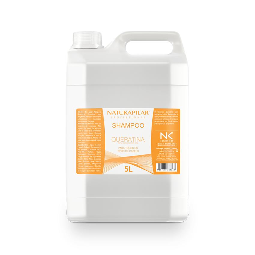 Shampoo Queratina Sem Adição de Sal 5L
