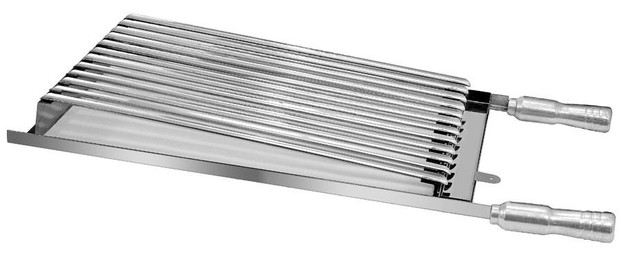 Grelha Modelo Parrilheira 100% INOX Medida 30x50 cm