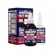 Cola Instantânea Almasuper Kit Para Mdf Almata