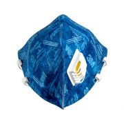 MASCARA AZUL 3M COM VALVULA COD. 9812 KIT C/05 MASCARAS