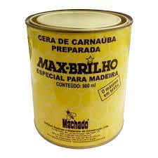 Cera de Carnaúba Max Brilho 900 ML - MACHADO