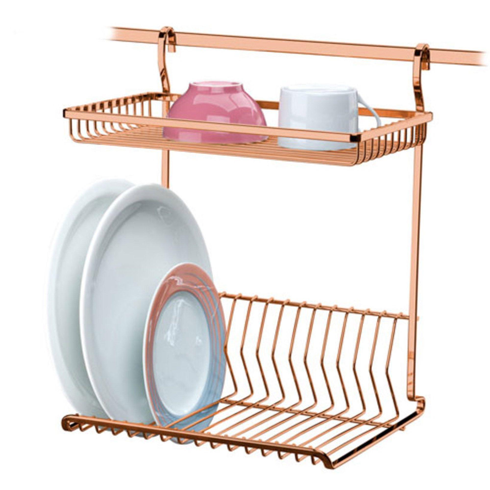 Escorredor de Louças de Parede - Rosé Gold 2800RG - FUTURE