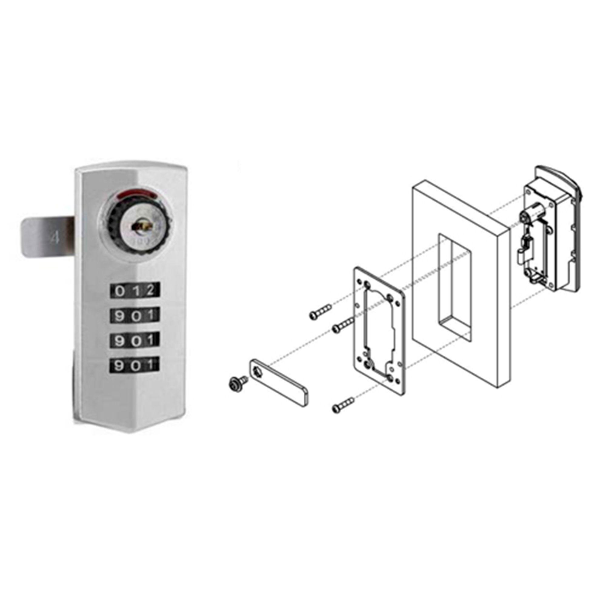 Fechadura Para Moveis Com Senha / Chave Lock 10/35 Hafele