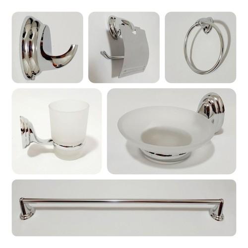 Kit Acessórios para Banheiro 6 Peças - Solofer