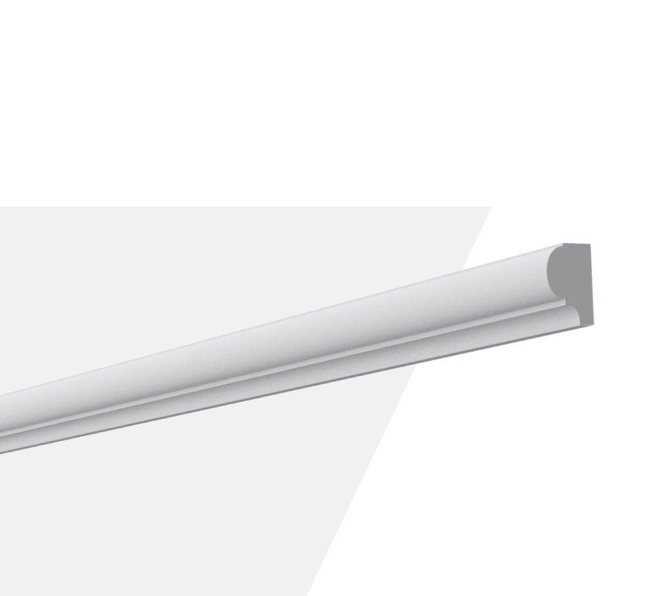 Rodameio Poliuretano Gart S3 Branco - Peça 2 mts.