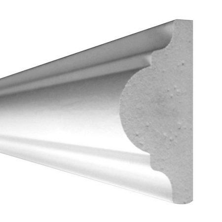 Rodameio Poliuretano Gart S4 Branco - Peça 2 mts.