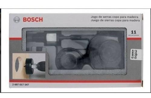 Serra Copo Bosch jg c/ 11 peças p/madeira