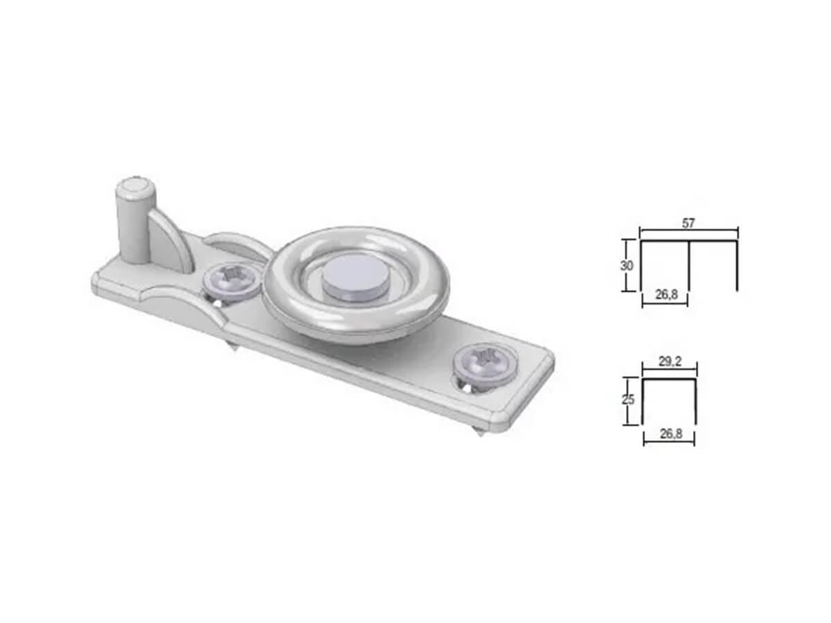Sistema deslizante p01 porta AL60 - c/ guia ajustavel - ALTERNATIVA