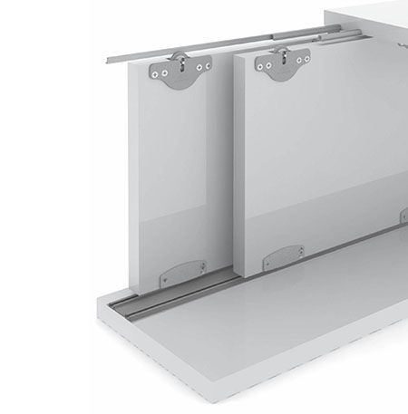Sistema Deslizante p/01 porta RO-21M - ROMETAL 30Kg - Embutir