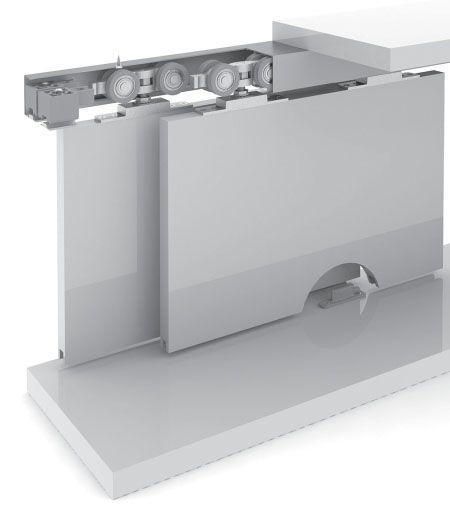 Sistema Deslizante p/01 porta RO-80U ROMETAL 100kg
