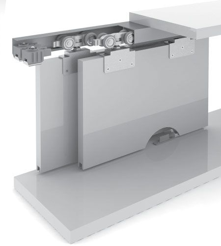 Sistema Deslizante p/01 porta RO-80V ROMETAL 100kg