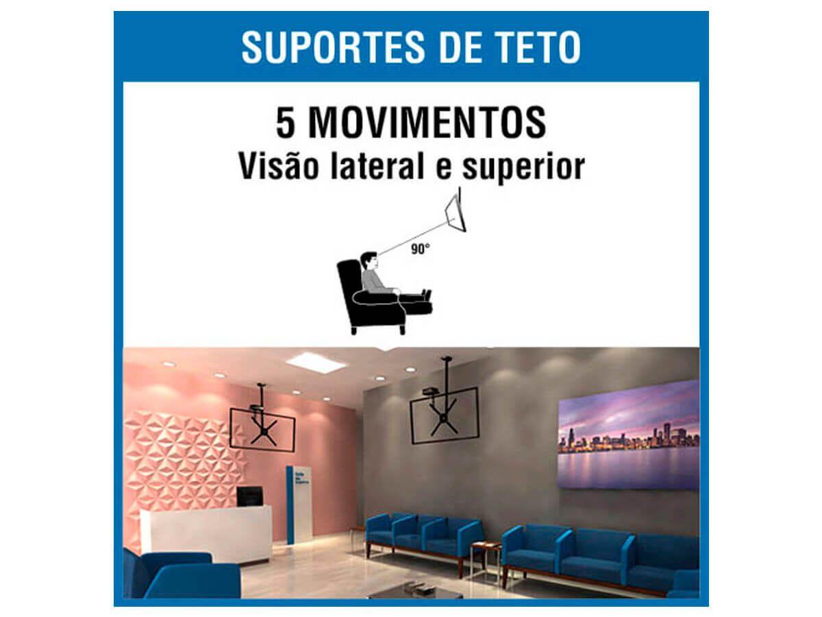 Suporte Brasforma de Teto para Tv Sbrp150 LCD/Led 10 a 55