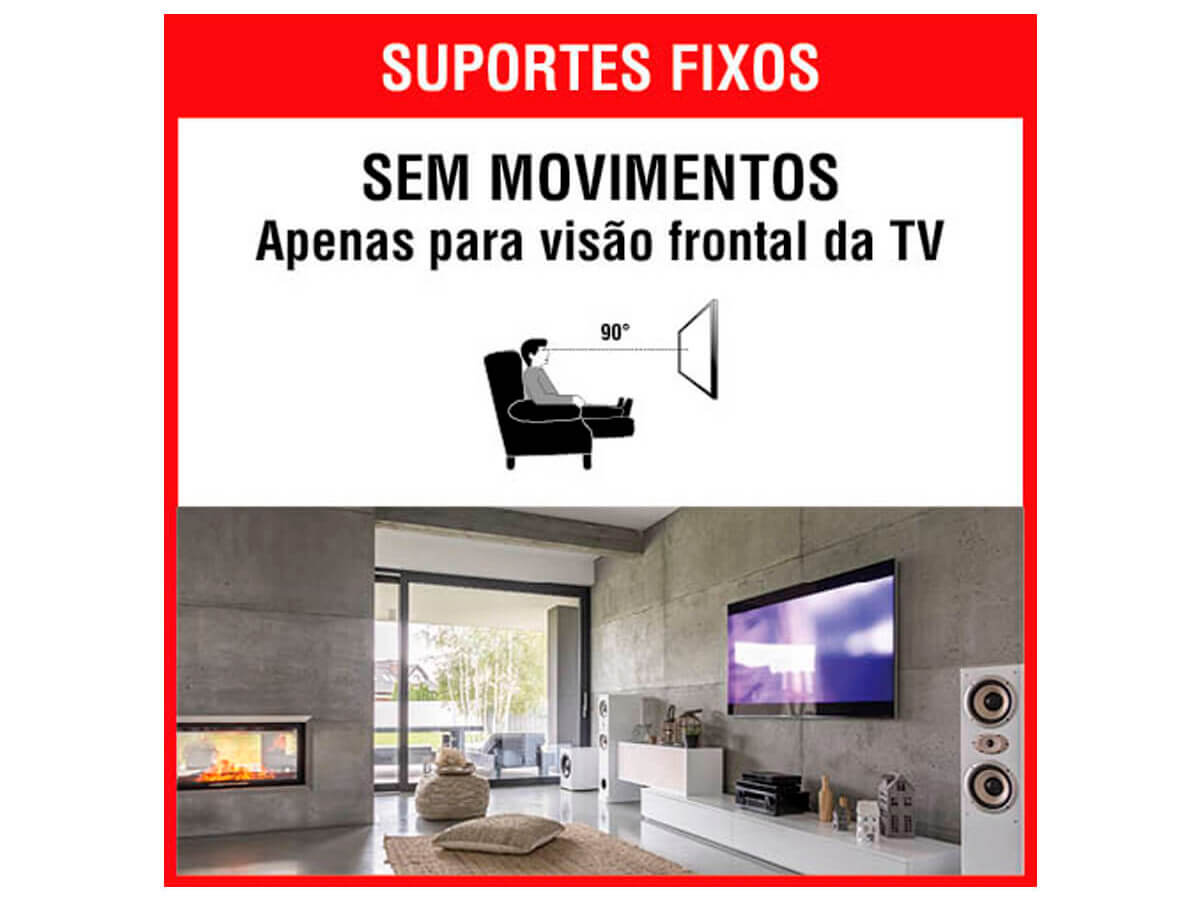 Suporte para Tv Fixo Universal 10 a 85 SBRU859 Brasforma