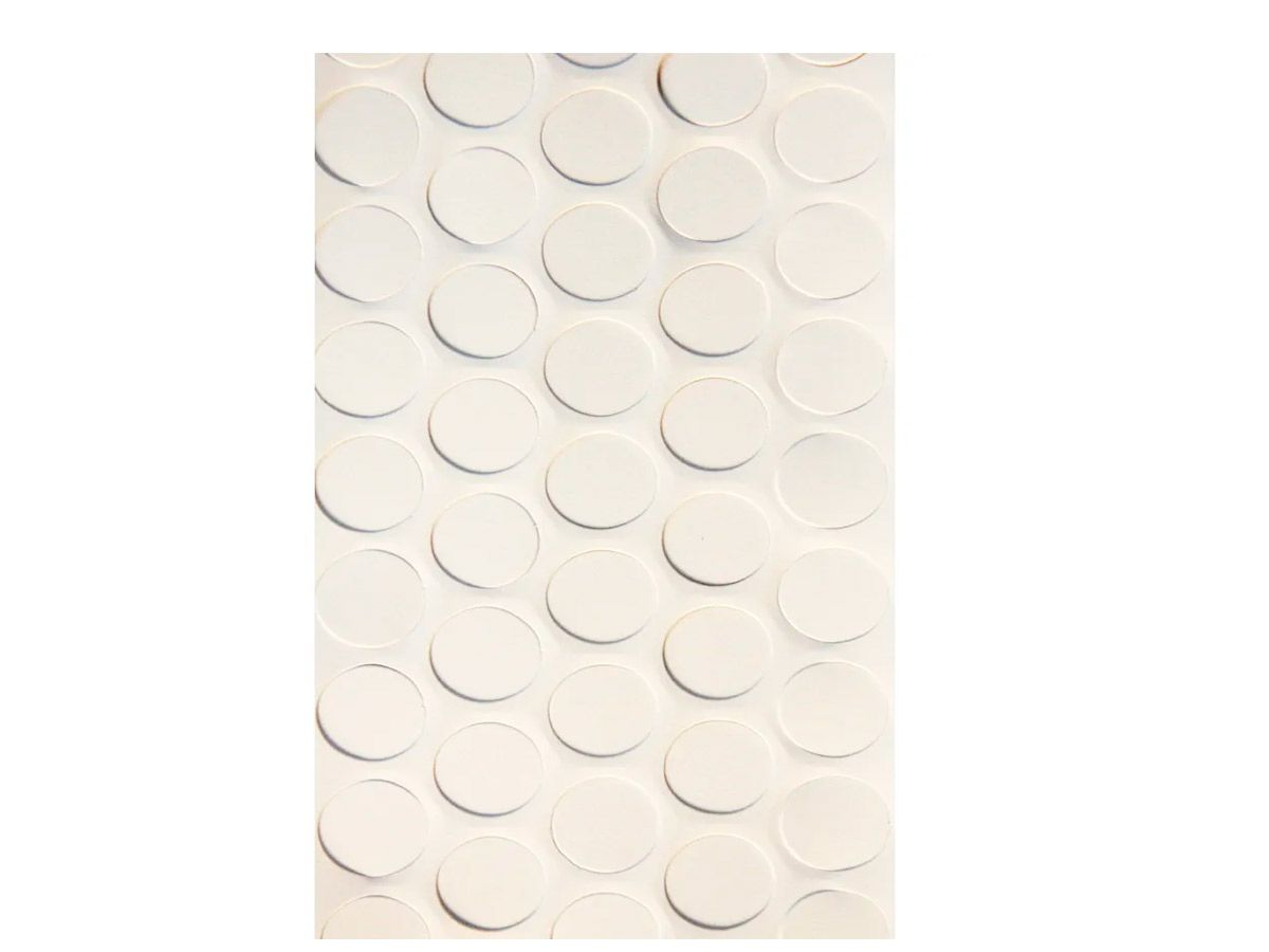 Tapa Furo Adesivo Branco Tx - kit c/ 10 cartelas
