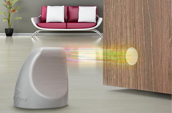 Trava Porta Magnetico Preto Fosco Comfort Door