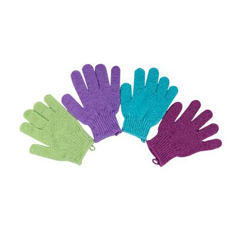 Kit Com 6 Pares Luvas Esfoliantes Para Banho Ou Massagem