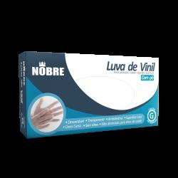 LUVA VINIL COM PÓ  CX C/ 100UN. - P