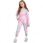Agasalho Infantil Feminino Blusão e Calça Tie-Dye
