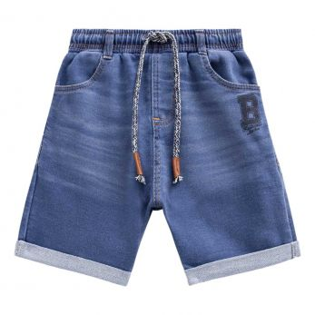 Bermuda de Malha Jeans com Elastano