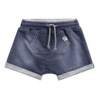 Bermuda Saruel em Malha Jeans