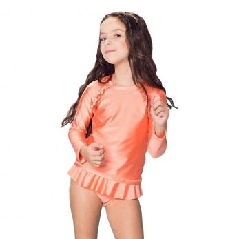 Blusa Bubble Fem. Lisa- Coral