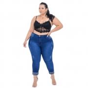 Calça Jeans Feminina Skinny com Cinta