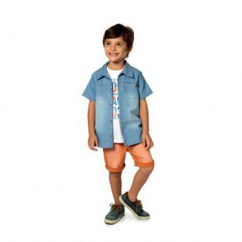 Camisa Infantil Jeans