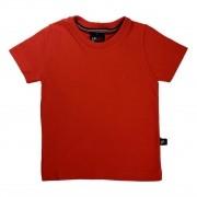 Camiseta Infantil Vermelha 100% Algodão
