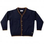 Casaco de Tricot Infantil Azul Marinho