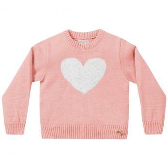 Casaco de Tricot Infantil  Rosa