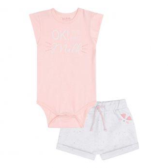 Conjunto de Body em Cotton e Shorts em Moletom