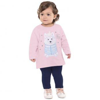 Conjunto Moletom Bebê Rosa e Marinho