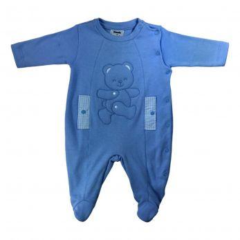 Macacão Ursão Azul Anil
