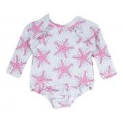 Maiô Bebê de Manga Comprida Estrelas