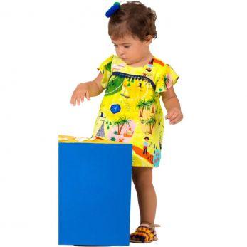 Vestido Bebê Caça ao Tesouro