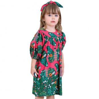 Vestido Infantil  Borboleta Precoce