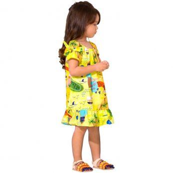Vestido Infantil Caça ao Tesouro