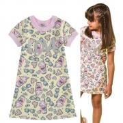 Vestido Infantil Estampado Love Pura Diversão