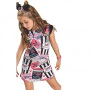 Vestido Infantil Estampado Pura Diversão