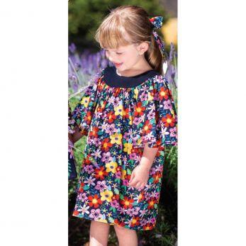 Vestido Infantil Flores Aquareladas