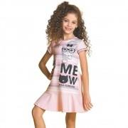 Vestido Infantil Gatinhas Rosa