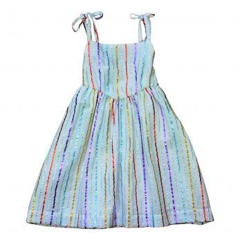 Vestido Infantil Listras Isa