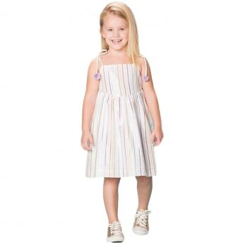 Vestido Infantil Listras Cintilantes