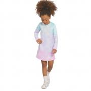 Vestido Infantil  Manga Longa Tie-Dye Cool Girl
