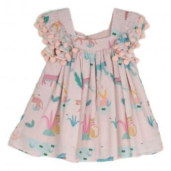 Vestido Infantil Onças Rose -  Hannah