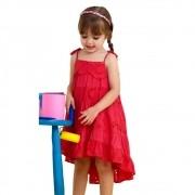 Vestido Infantil Pink Lesie Mullet