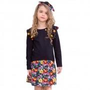 Vestido Infantil Precoce Floral Aquarelado