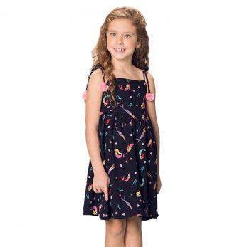 Vestido Infantil Preto Sereia