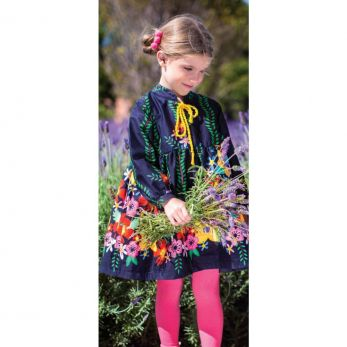 Vestido Menina Franzido Floral