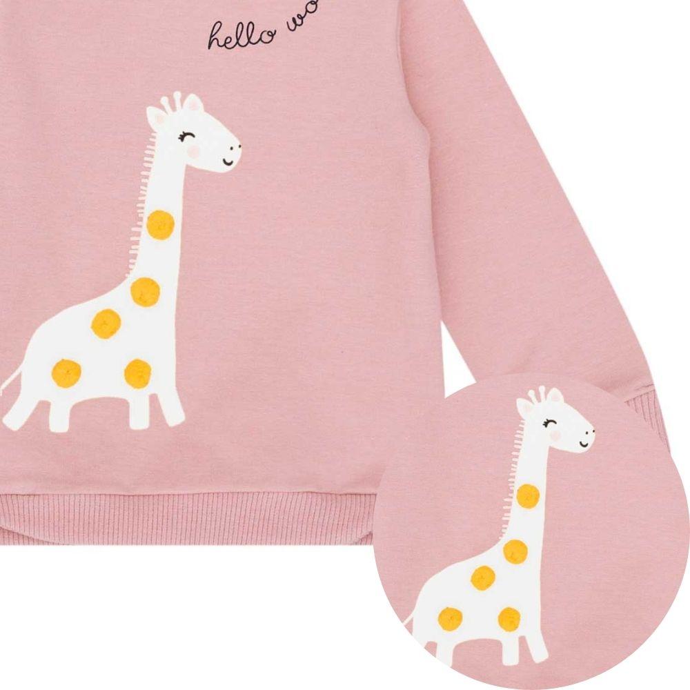 Agasalho Bebê Menina Mundo da Girafinha